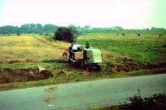 9 Selvkørende mejetærsker ca. 1970