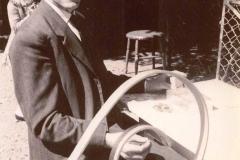 Pedersen, Ejnar Vejmand. Mange år som kassemester ved Horne Stadion