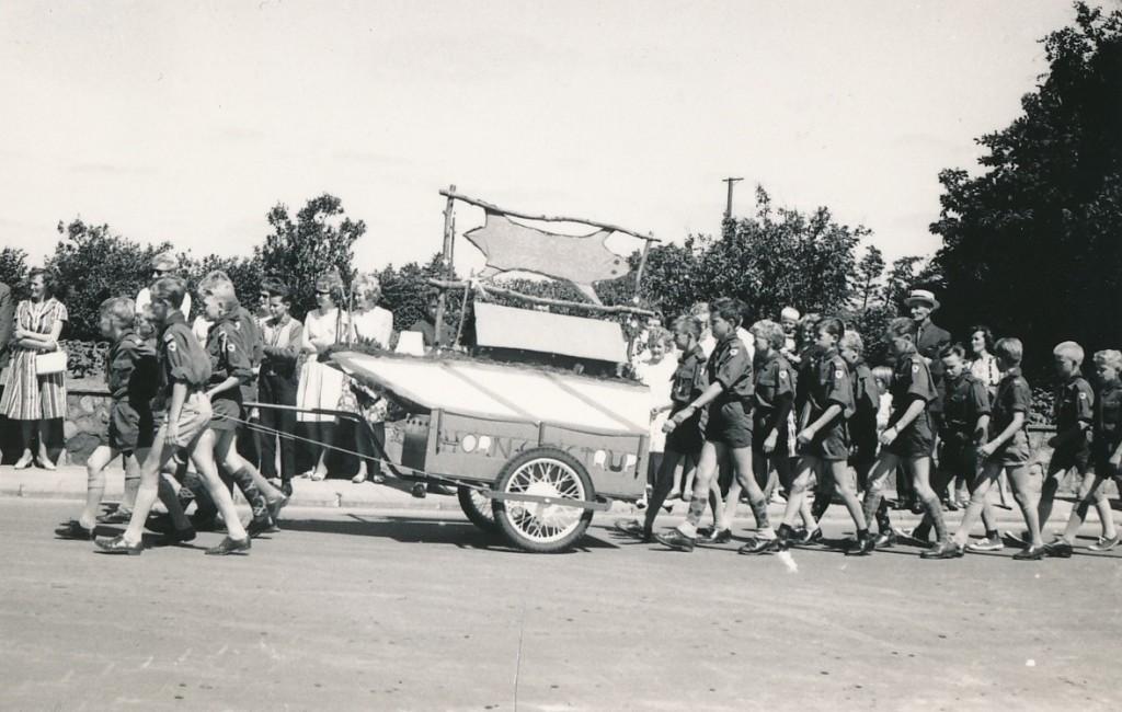 Spejderne ved HIFs jubilæum 1963